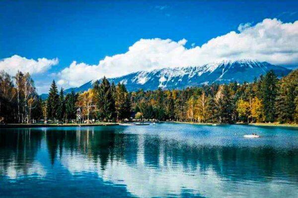 jezero v kampu šobec kjer izvajamo team building programe